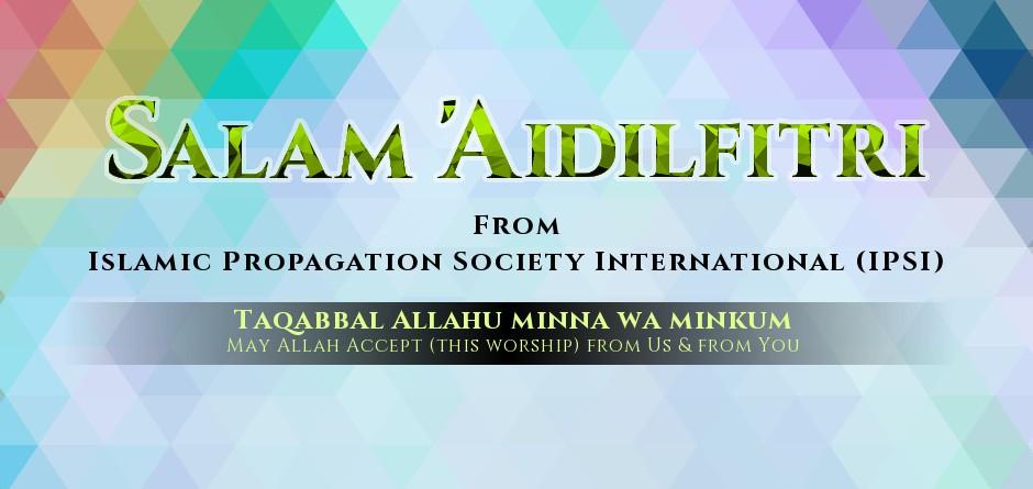Aidilfitri Mubarak! from IPSI