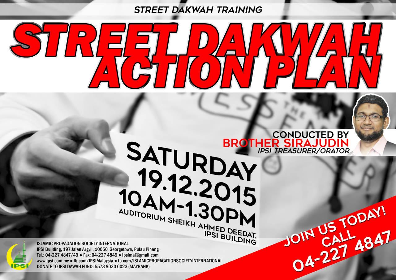 Dakwah Training: Street Dakwah Action Plan by Br. Sirajudin