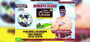 Reverts Class Every Thursday in IPSI