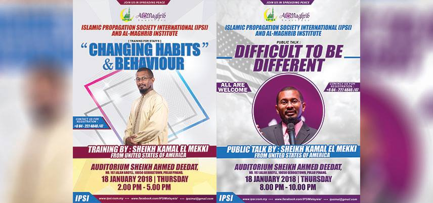 Training & Public Talk by Sheikh Kamal El Mekki dari USA
